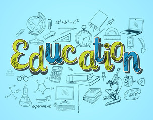 Education icon concept