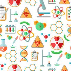 Chemistry research seamless pattern