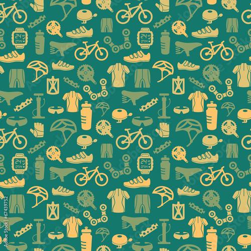 Deurstickers Fietsen Bike seamless pattern