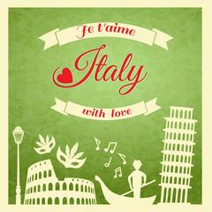 Italy retro poster