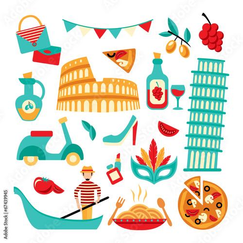 Italy decorative set - 67439945