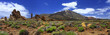 Leinwanddruck Bild - Panoramic image of the volcano Teide on the island of Tenerife