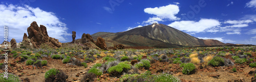 Panoramic image of the volcano Teide on the island of Tenerife