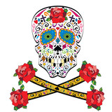 Fototapety Sugar skull vector on white background