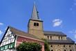 Altstadt von HILDEN m.Reformationskirche im Hintergrund
