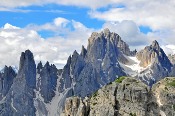 Mountain range in Dolomites, Italy