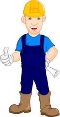 Construction worker repairman