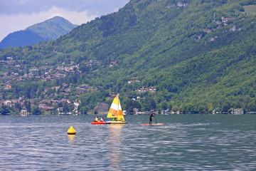 sailing on Lake Annecy