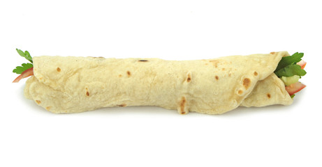 Traditional Turkish wrap roll bread. Dürüm kebab.