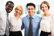 Portrait of multiracial business team