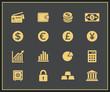 Financal icons set