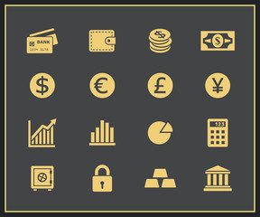 Financal icons set