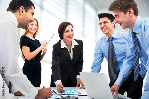 canvas print picture Business people