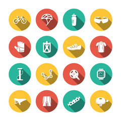 Set of Biking Icons