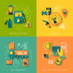 Set of gasoline station composition
