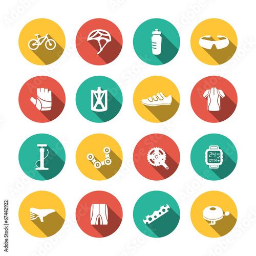Set of Biking Icons - 67442922