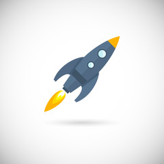 Aircraft icons space rocket