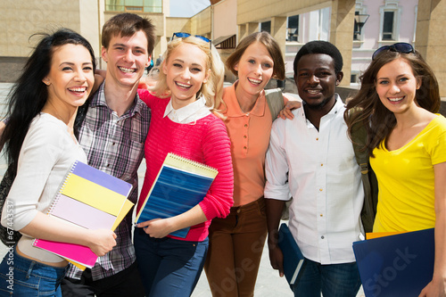 canvas print picture Group of student outdoor