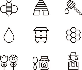 Bees & Honey icons