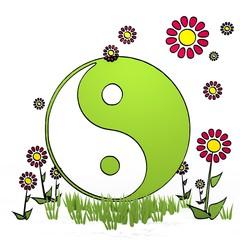 spring flower ying yang