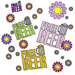 spring flower free beer  collectrion