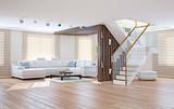 living room interior. 3d concept
