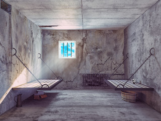 jail cell interior