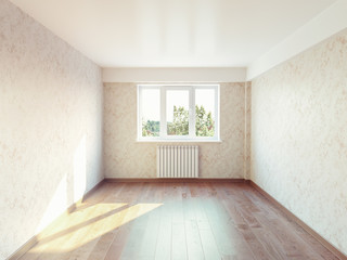 empty room interior. 3d concept