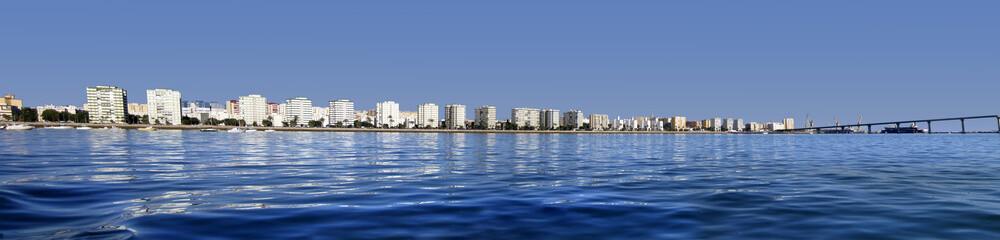 Panorámica de la bahía de Cádiz,andalucía,España