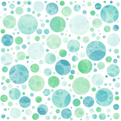 Seamless abstract  pattern with color bubbles