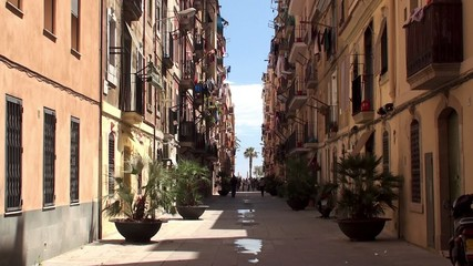 Types of Barcelona. Barceloneta dwelling neighborhood.