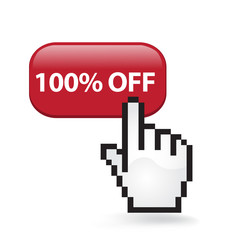 One Hundred Percent Off Button