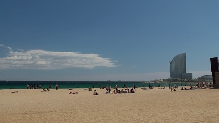 Types of Barcelona. Barceloneta beach.