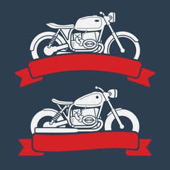 Retro motorcycle logo set