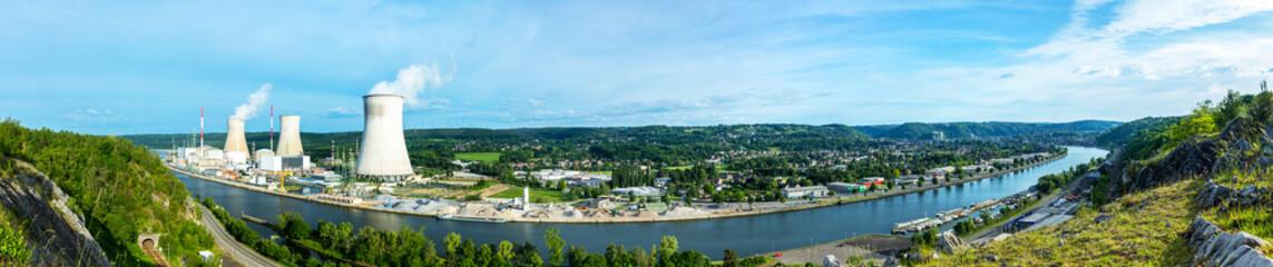 Panorama Atomkraftwerk tihange