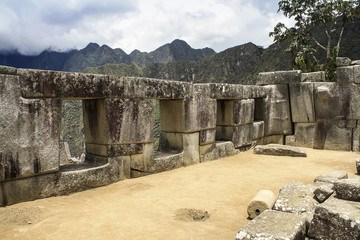 View of the archeological site Machu Picchu, Cuzco, Peru, seven