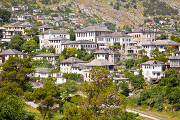 View on Traditional house in Gjirokaster, Albania.