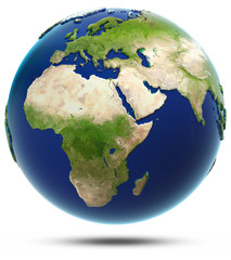 Earth model - Africa and Eurasia