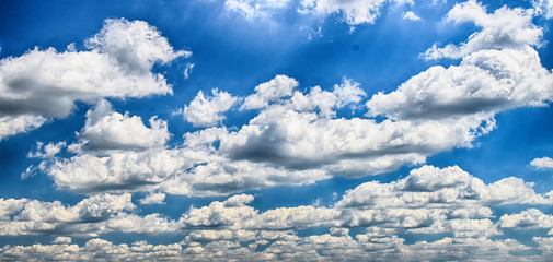 HDR blue sky with clouds