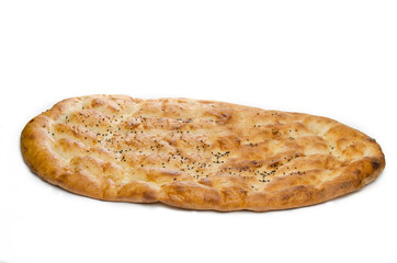 Pita or pide isolated on white background