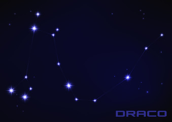 Draco star constellation