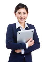 Asian businesswoman with laptop computer