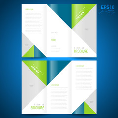 brochure design template triangles figure, frame for images