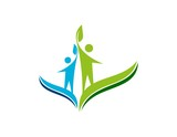 wellness,logo, people, health, nature, education abstract life