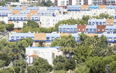 the neighborhood of the blue roofs