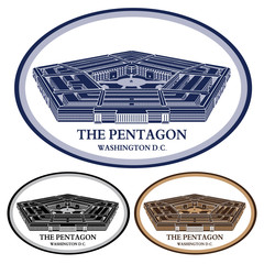 pentagon. detailed illustration vector
