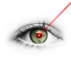 Laserstrahl im Auge
