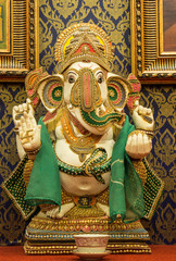 Ganesh statue, which is the worship of the people