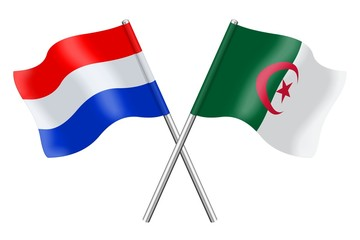 Flags: Netherlands and Algeria