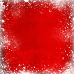 red winter abstract background - christmas background